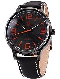 [エーエムピーエム24]AMPM24 メンズ レディース 大きい ブラック レザースポーツクォーツ 腕時計 贈り物 ORK044