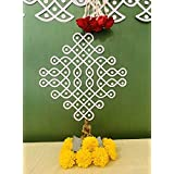 Desi Favors Small Muggu/Kolam Cutouts - Set of 4- Pooja Decorations Indian Home Decor
