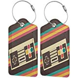 Retro Video Game Printed?Leather Luggage Tag & Bag Tag With Privacy Cover Of Specifications