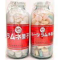 シマダ大瓶ラムネ 250g ラムネ菓子 2種食べ比べ 【まとめ買い】※おまけに「あべっ子ラムネ 6g」1個付き