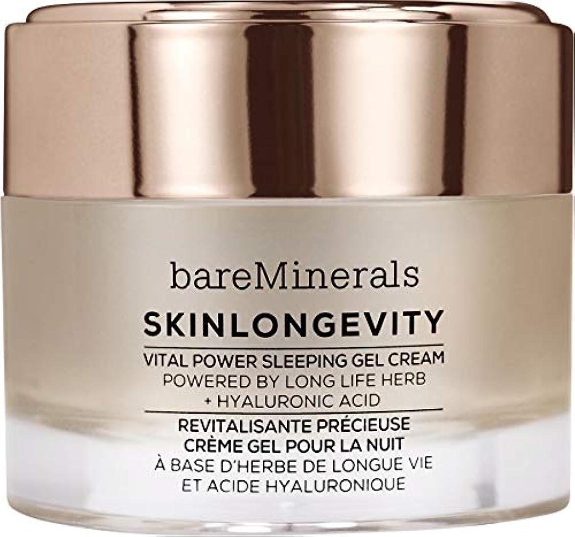 拡大する代表団改革ベアミネラル Skinlongevity Vital Power Sleeping Gel Cream 50g/1.7oz並行輸入品