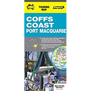 Coffs Harbour & Port Macquarie Map 278/294 1st ed (Touring Map)