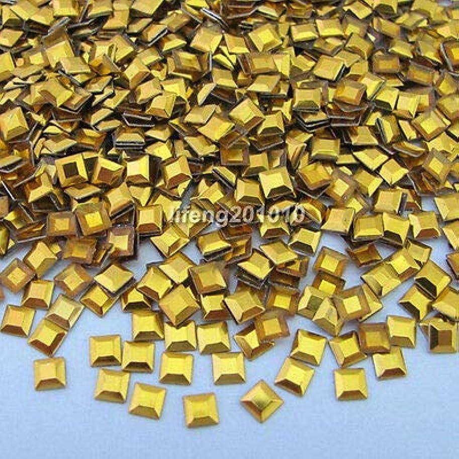 ヘビヘルシー動かすFidgetGear 1000ピース3dスクエア合金ネイルアートラインストーンメタリック携帯電話の装飾スタッド ゴールド