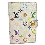 ルイ ヴィトン LOUIS VUITTON M92653 カルトデュバル モノグラム マルチカラー 手帳 アドレス帳 ブロン ホワイト 18369eSaM 中古