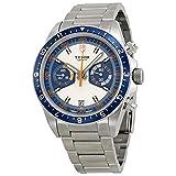 (チュードル) TUDOR Heritage Chronograph Blue and Silver Dial Men Watch (並行輸入品) grayzi