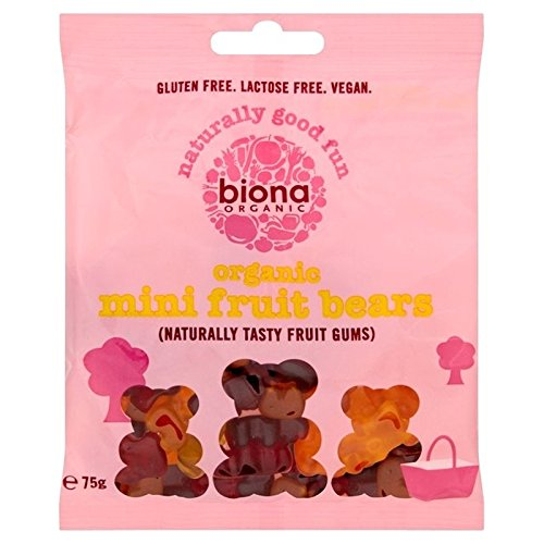 Biona有機ミニフルーツは75グラムを負います (x 2) - Biona Organic Mini Fruit Bears 75g (Pack of 2) [並行輸入品]