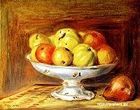 ルノアール 「リンゴ」 原画同縮尺近似 (6号) renoir-01