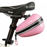 自転車 サドルバッグ サイクリング かんたん装着 バイクバッグ 小物入れ 自転車カバン マウントドライバッグ (ピンク)