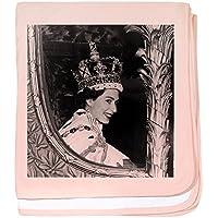 CafePress – Oldskool Queen Elizabeth – スーパーソフトベビー毛布、新生児おくるみ ピンク 06476629566832E