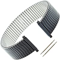 Gilden Gents Expansion 17-22mm Black Stainless Steel Watch Band 552-B-4