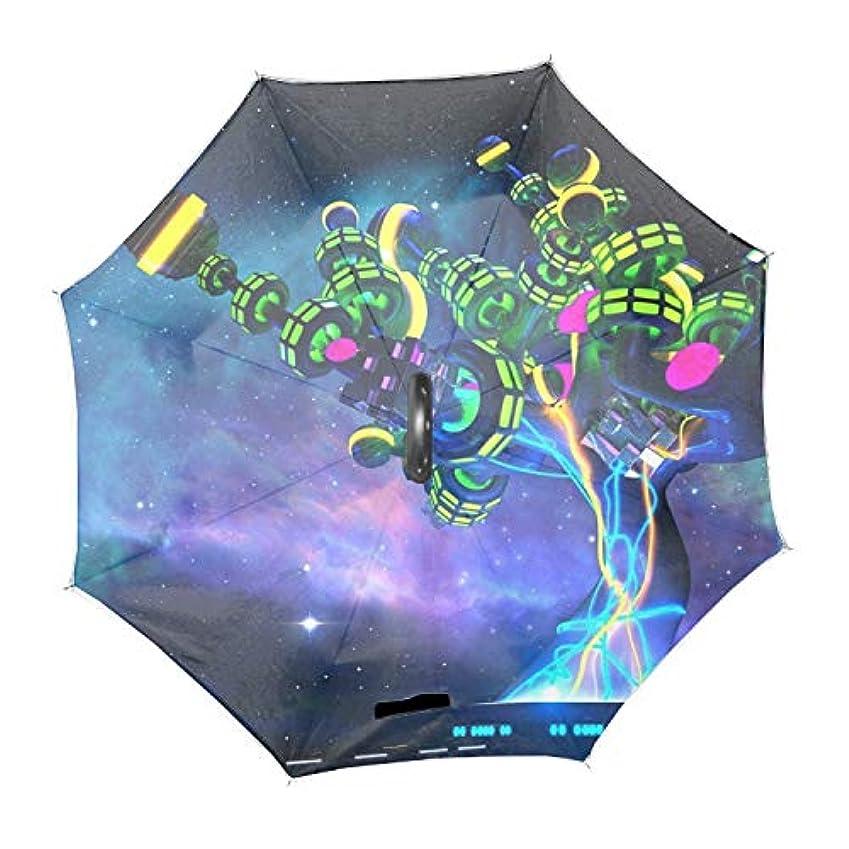 アクチュエータ遠足敬礼抽象芸術のパターン逆さ傘 逆折り式傘 車用傘 耐風 撥水 遮光遮熱 大きい 手離れC型手元 梅雨 紫外線対策 晴雨兼用