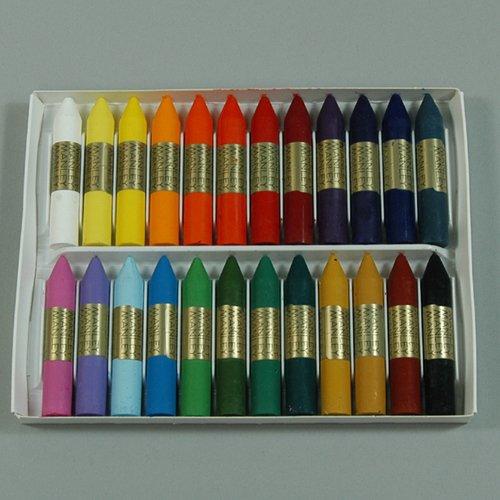[해외]MANLEY 맨 레이 유성 왁스 크레용 24 색 세트/MANLEY oily wax crayon 24 color set