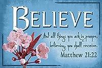 Matthew 21: 22–インスピレーション 24 x 36 Signed Art Print LANT-47123-710