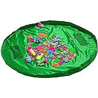 19blue(ナインティーンブルー) お片づけ おもちゃ 収納袋 防水 マット 150cm (緑)