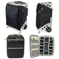 ZUCA Ultimate Rolling Camera Case - Flyer Travel Black/Silver Frame and Photo Insert [並行輸入品]
