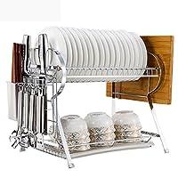 多目的収納ラック ボウルシェルフ食器類排水棚キッチン家庭用ナイフ棚フィルター水皿ラック箸クロスプレートフレームランディング壁掛け41.2 * 27.8 * 34.1CM キッチンバスルーム用 (Color : White, Size : 41.2*27.8*34.1CM)