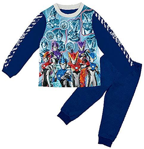 (バンダイ) BANDAI ウルトラマンルーブ 光るパジャマ 長袖 パジャマ上下 【2434908】100cm ネイビー