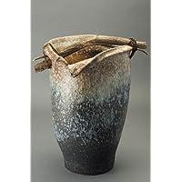 白窯変手桶傘立信楽焼陶器傘立て