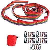Perfectgoing レインボー ハンギングチェーン カラビナ 20個付き 長さ調節可能 収納オリジナル袋付き