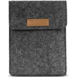 MoKo Sleeve for Kindle Paperwhite / Kindle Voyage, Protective Felt Cover Case Pouch Bag for Amazon Kindle Paperwhite / Voyage / Kindle(8th Gen, 2016) / Kindle Oasis 6-Inch E-Reader, Dark Gray