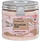 The Salt Box Magnesium Epsom Bath Salts - Relaxation & Pampering Bath Soak Body Spa with Lavender & Citrus 100% Natural Essen