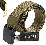 【グレードアップ版】 JINSELF S級永久ベルト 純正ナイロン100% 正規YKKバックル ミリタリー 自衛隊 サバゲー 装備 作業 作業着 メンズ 1-Military