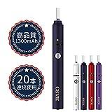 電子タバコ iQOS アイコス互換機 互換品 加熱式電子たばこ 連続23本 恒温加熱 USB充電式日本語取扱説明書付き 振動付き 自動清掃 3ヶ月交換サービス(ネイビー)
