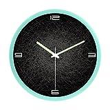 クロックス メンズ ブーツ ZLR ファッションミュート リビングルームのベッドルーム時計ミュートファッションアートウォールクロッククリエイティブな光沢のある壁の時計 ( 色 : H h )