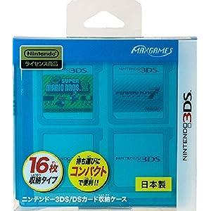 ニンテンドー3DS/DSカード収納ケース カードポケット16 クリアブルー