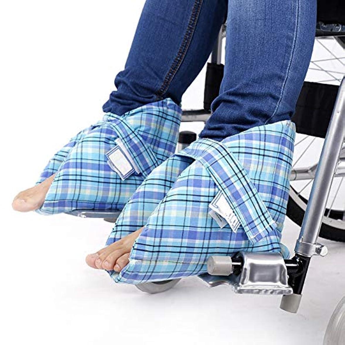 後方最近敵対的フットサポートピロー、かかとプロテクター、ベッドの痛みや潰瘍の治療用、足の圧迫を和らげる、1ペア