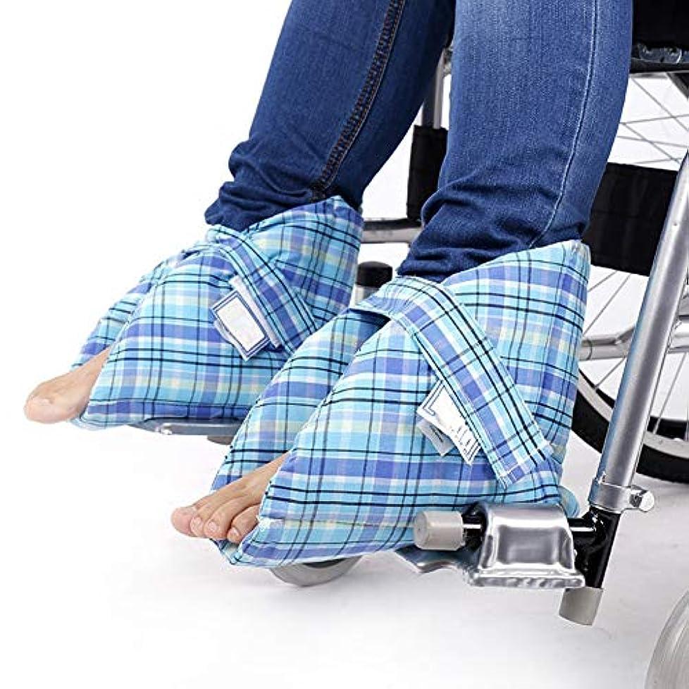 混乱させるステレオタイプであるフットサポートピロー、かかとプロテクター、ベッドの痛みや潰瘍の治療用、足の圧迫を和らげる、1ペア