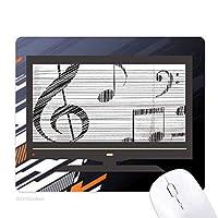 古典的な美しい音楽は単純なパターン ノンスリップラバーマウスパッドはコンピュータゲームのオフィス