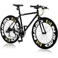 CANOVER(カノーバー) クロスバイク 700C シマノ21段変速 CAC-023 (NAIAD) ディープリム アルミフレーム フロントLEDライト付 [メーカー保証1年]