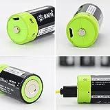 Solesyi USB充電式単2形電池 高容量1.5Vリチウムポリマー電池3000mAh 約3000回使用可能 (二個)