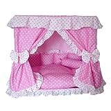 ペットハウス 犬猫 プリンセス ベッド 【ピンク】 小型犬 猫用