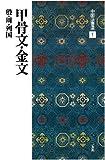 甲骨文・金文[殷・周・列国/篆書] (中国法書選 1) 画像