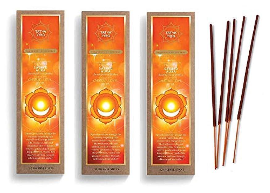 感覚代理店最初にSacred Aura Long Lasting Incense Sticks for Daily Pooja|Festive|Home|Scented Natural Agarbatti for Positive Energy|Good Health & Wealth (Pack of 3 | 30 Sticks Per Pack)