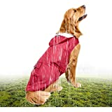 Docooler 5XL Reflective Pet Dog Rain Coat Raincoat Rainwear with Leash Hole for Medium Large Dogs