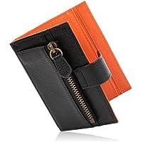 [LUCIAS] ミニ財布 二つ折り 本革 薄い 軽い コインケース カードケース スリム財布 メンズ