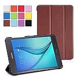 WOFALA Samsung Galaxy Tab A 8.0case-クラシックPUレザークリエイティブ3つ折りカバー–高品質超薄型スマートカバーCase For Samsung Galaxy Tab A 8インチタブレット(自動スリープ/スリープ解除機能付き) 8 Inch ブラウン samsung galaxy tab a 8.0 case
