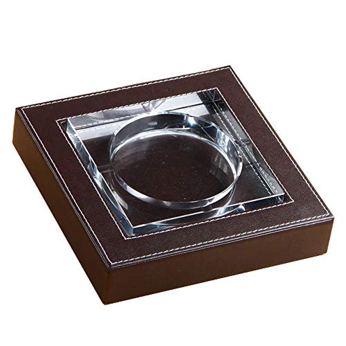 放送嵐口述屋内でクリスタル屋外喫煙者のための灰皿灰皿ホルダー、ホームオフィスの装飾のためのデスクトップの喫煙灰皿 (Size : S)