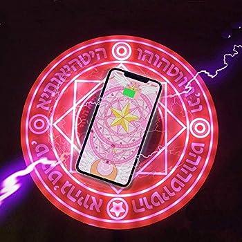 魔法陣充電器 ワイヤレス充電器 急速 qi 置くだけ充電 LED 対応機種 iPhone 8 iPhone 8 Plus iPhone iPhoneX iPhoneXS iPhone XR iPhone XS Max 10W (ピンク)