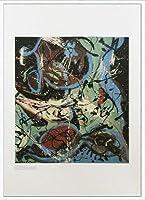 ポスター ジャクソン ポロック Composition whth Pouring Ⅱ 1943 額装品 アルミ製ハイグレードフレーム(ホワイト)