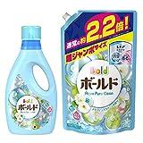 【まとめ買い】 ボールド 洗濯洗剤 液体 アクアピュアクリーンの香り 本体 850g + 詰め替え 超ジャンボ1.58kg