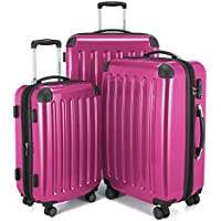 Hauptstadtkoffer Alex Set of 3 Luggages Suitcase Hardside Spinner Trolley Expandable TSA, Pink, Set