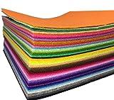 48枚 サイズが選べる カット フェルト 生地 48色 セット 厚さ 1mm (10cm*10cm) 不織布 アクリル系繊維 クラフトフェルトマットⅮIY用