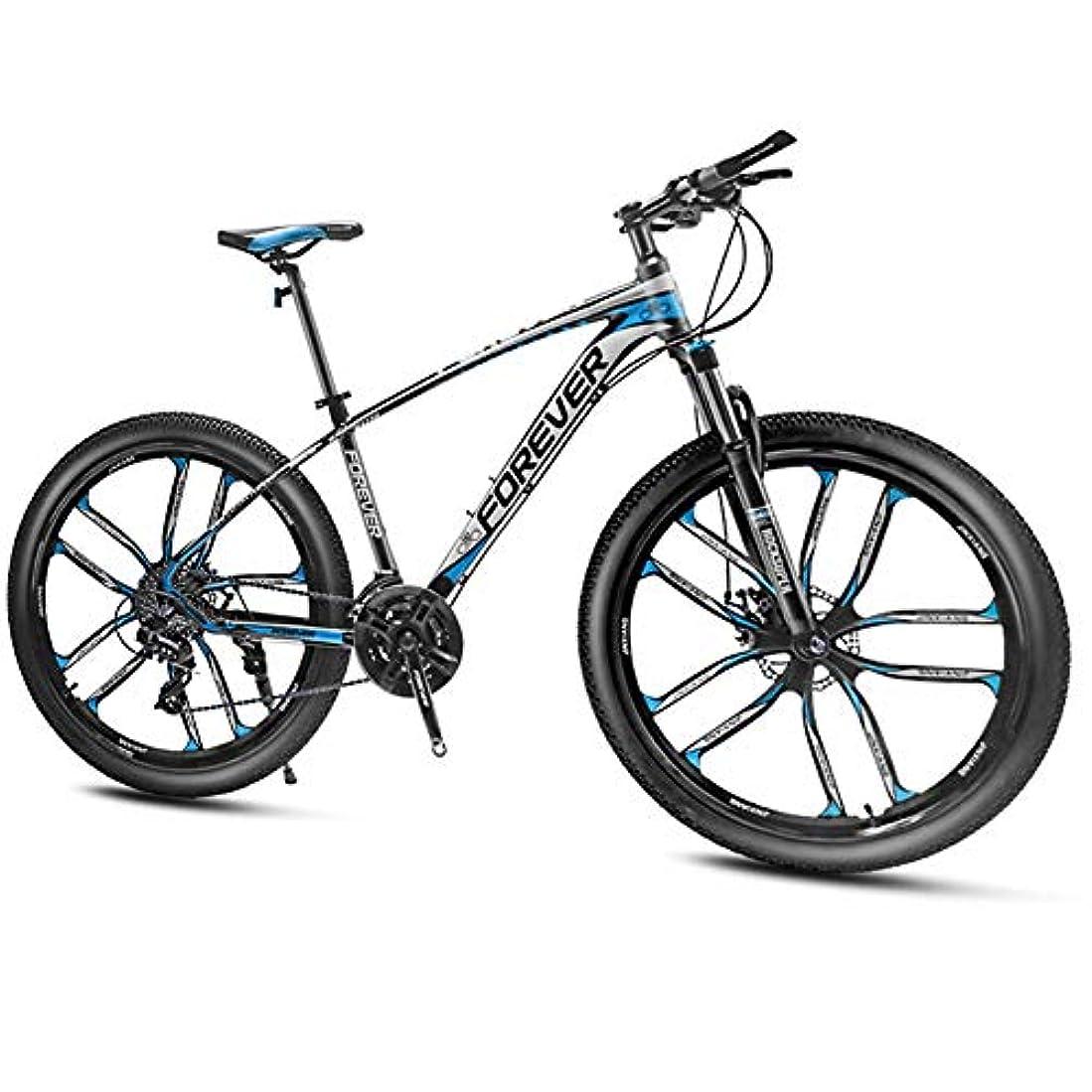 バター面白いシーボード27.5インチマウンテンバイク、メンズアルミフレームマウンテントレイルバイク、フロントサスペンション付きアダルトハードテールマウンテンバイク、24-27-30スピードスリップ防止バイク,Blue 10 spoke,27 speed