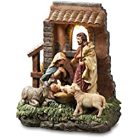 THE SAN FRANCISCO MUSIC BOX COMPANY Holy Family in Stable Window Figurine by The San Francisco Music Box Company