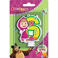 Sandle on a Cake Topper 6 Years Masha and the Bear Must Have Accessories for the Party supplies and Birthday Masha y el Oso para ninos