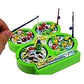(ココ)COCO おもちゃ ワクワク 魚釣り 4人 対戦 テーブル 磁石 マグネット フィッシング ゲーム お楽しみカラー